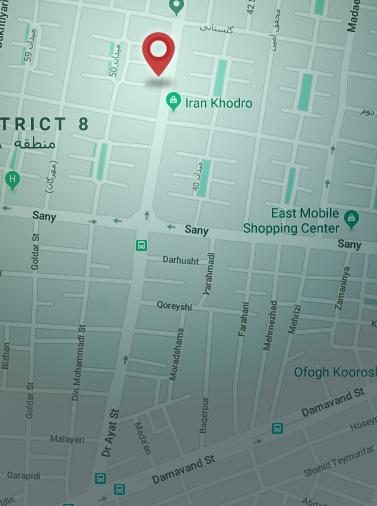 آدرس پنتاما روی نقشه