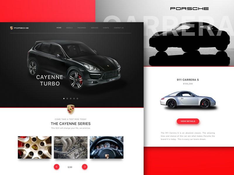 نمونه سایت خارجی خودرو